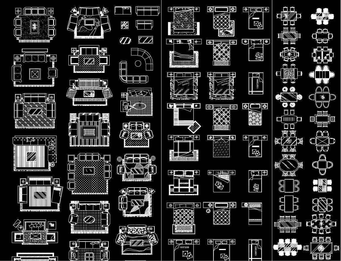 Home Interior Design CAD Collection