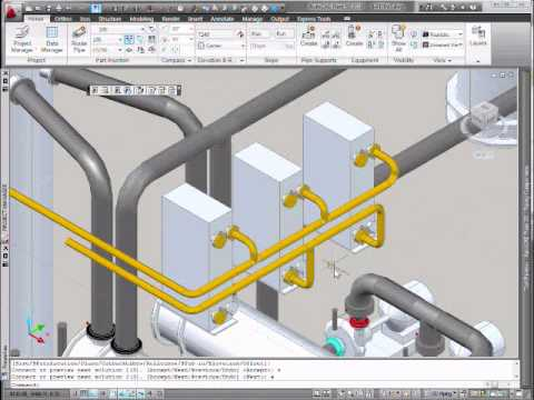 Autocad Plant 3d Manifold Pipe Routing Free Cad Blocks Drawings