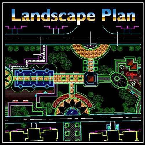 Residential Landscape Design 9 - Free Autocad Blocks ...