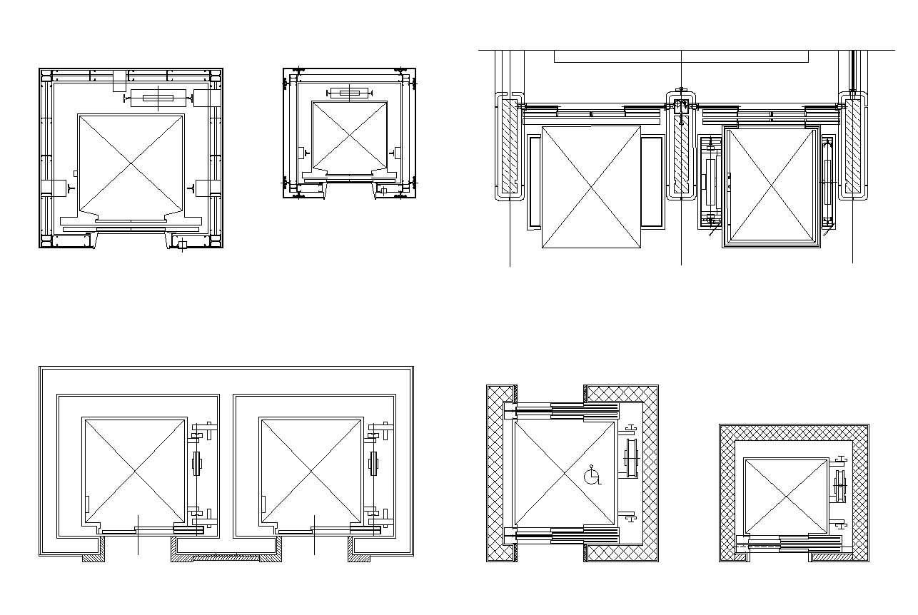 Amazing Elevator Plan Drawing 10 Cad Drawing Engineering