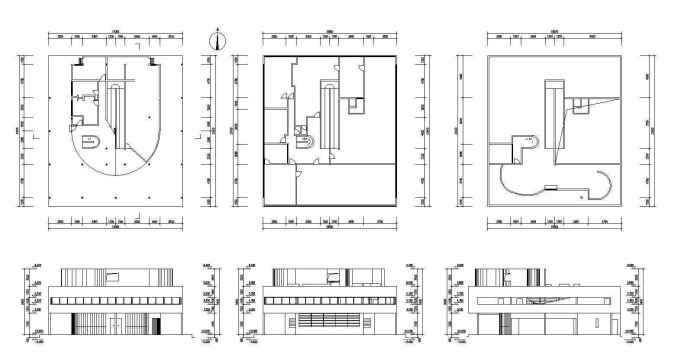 Villa Savoye Cad Drawings Le Corbusier Free Cad Blocks