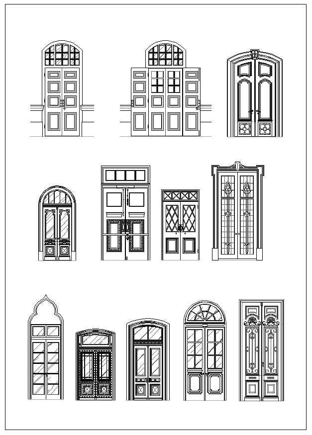 Ornamental Door Amp Window Bundle Free Autocad Blocks