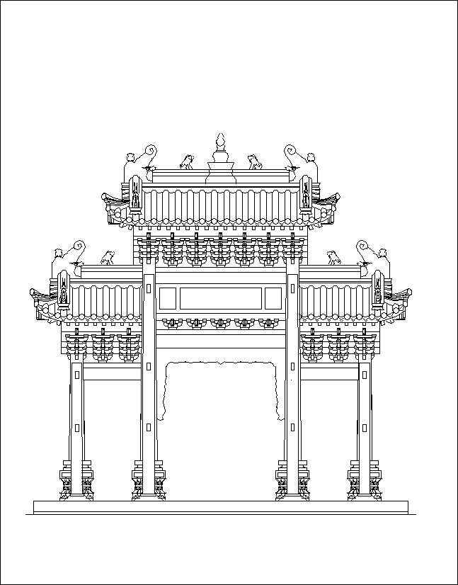 Chinese architecture free cad blocks drawings download for Architecture chinoise