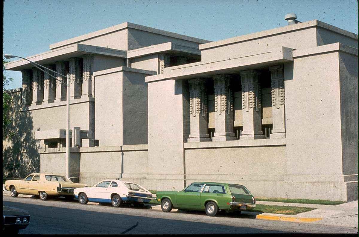 Home Elevation Design Free Software Unity Temple Frank Lloyd Wright Free Cad Blocks