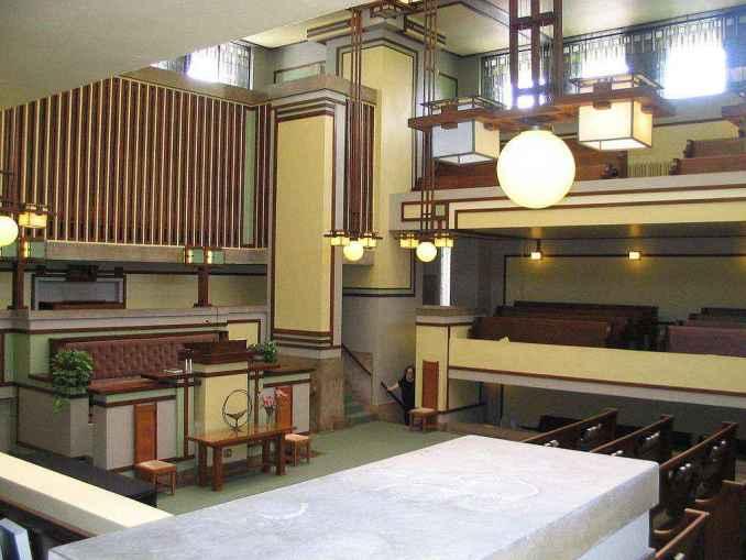 Unity Temple Frank Lloyd Wright Free Cad Blocks