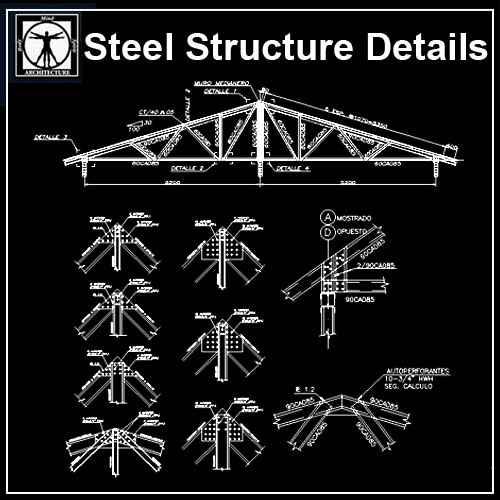 Free Steel Structure Details 4 – Free Autocad Blocks