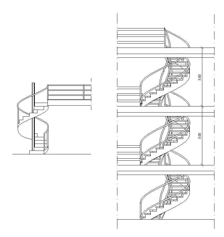 Free Spiral Stair Details