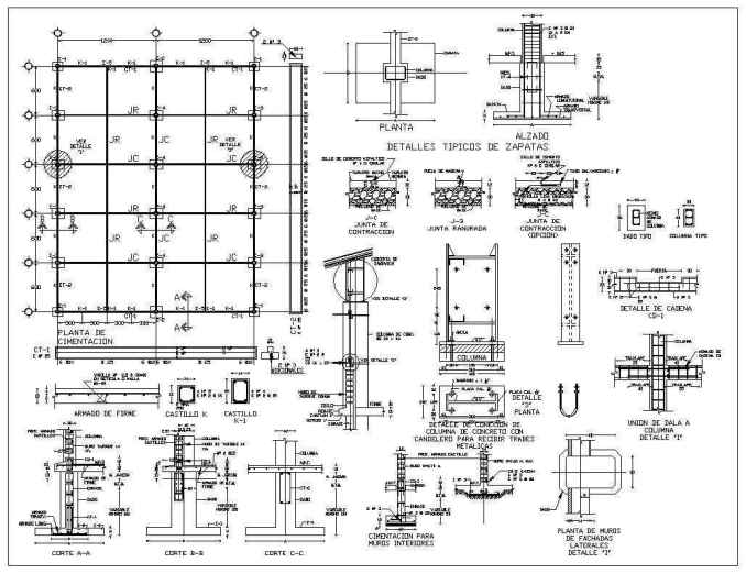 foundation details v1  u2013 download cad blocks drawings