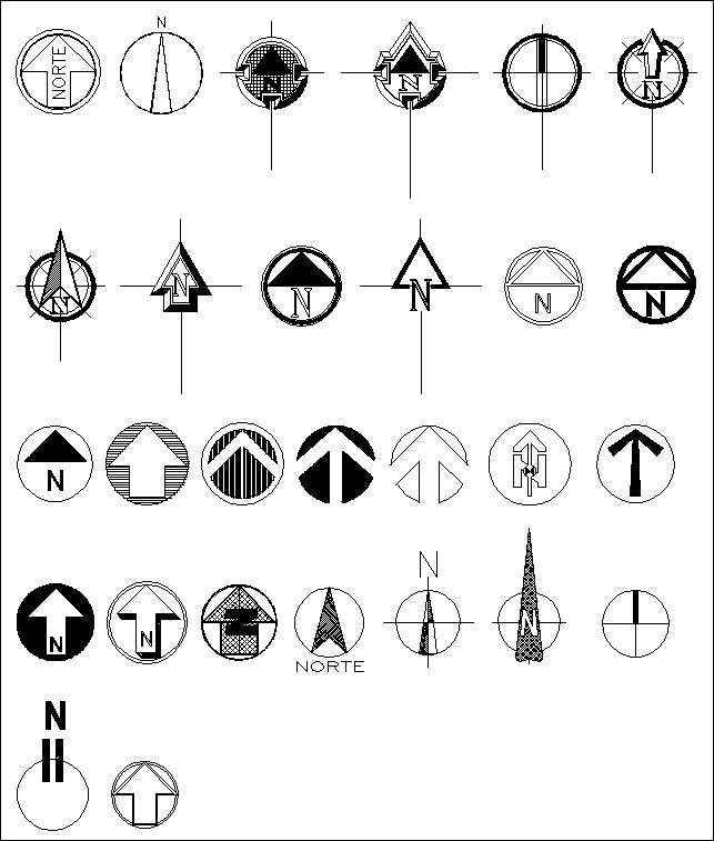 Free North Symbols Free Cad Blocks Amp Drawings Download