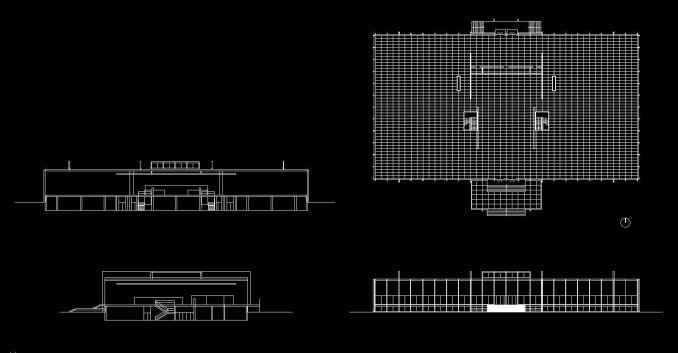 Crown Hall (Free) | Free Cad Blocks & Drawings Download Center