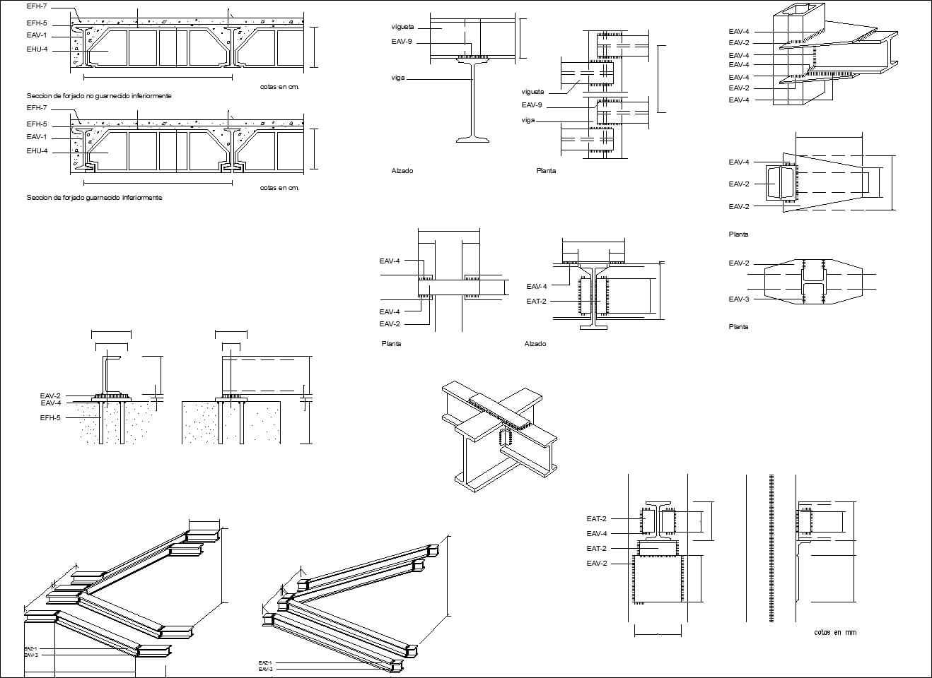 Steel Structure Details 1 Free Cad Blocks Amp Drawings