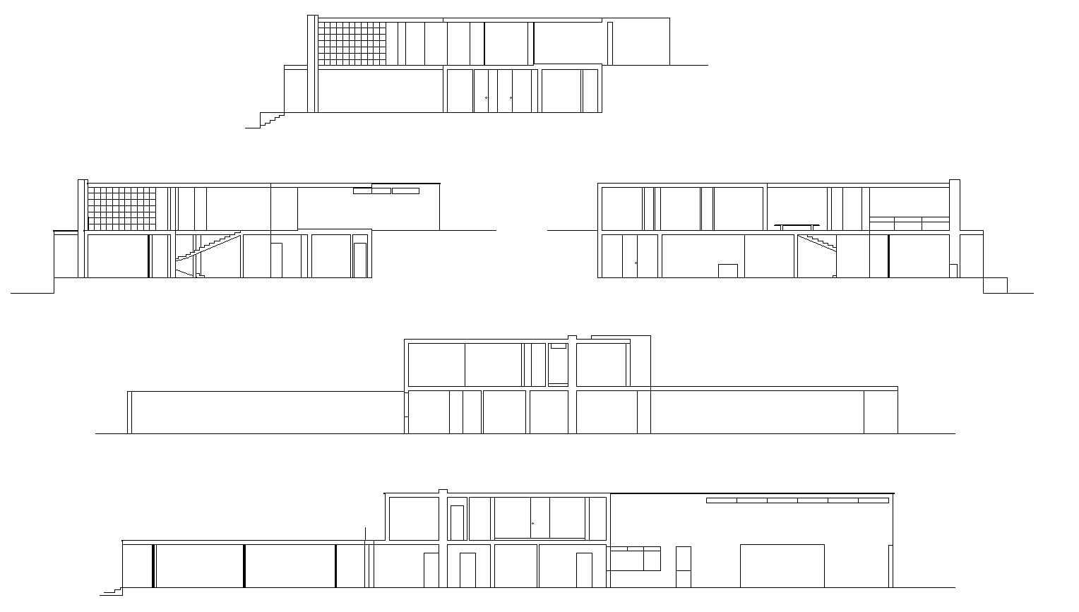 Ludwig Mies Van Der Rohe Farnsworth House Free Cad Blocks  # Muebles Mies Van Der Rohe Autocad