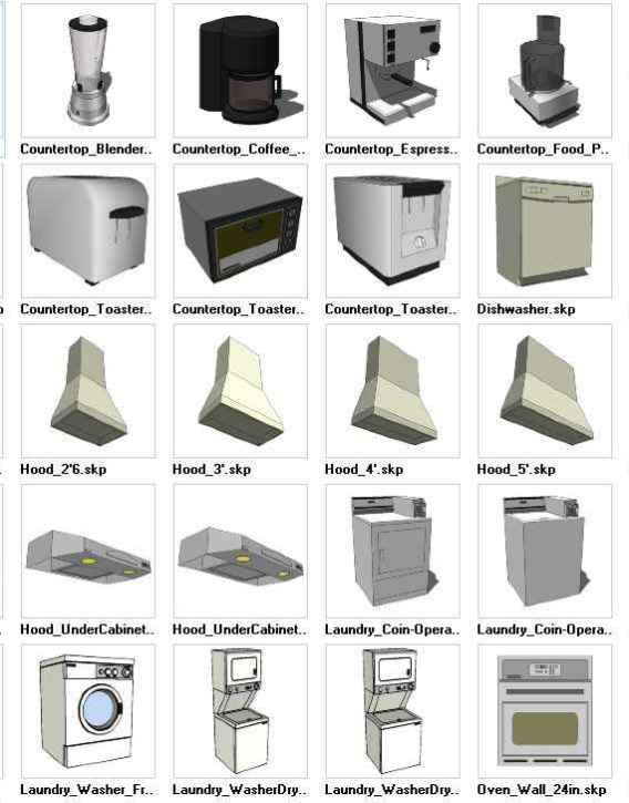 Sketchup Appliances 3d Models Download Free Cad Blocks Drawings Download Center