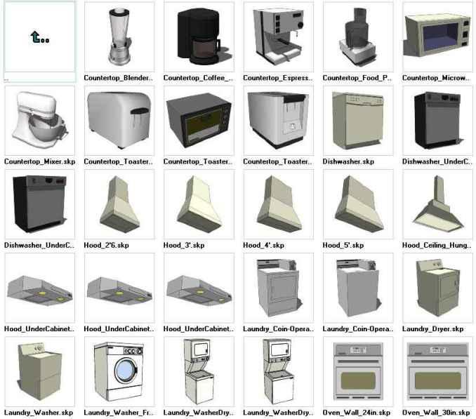 Sketchup appliances 3d models download free cad blocks for Modelli cad 3d free
