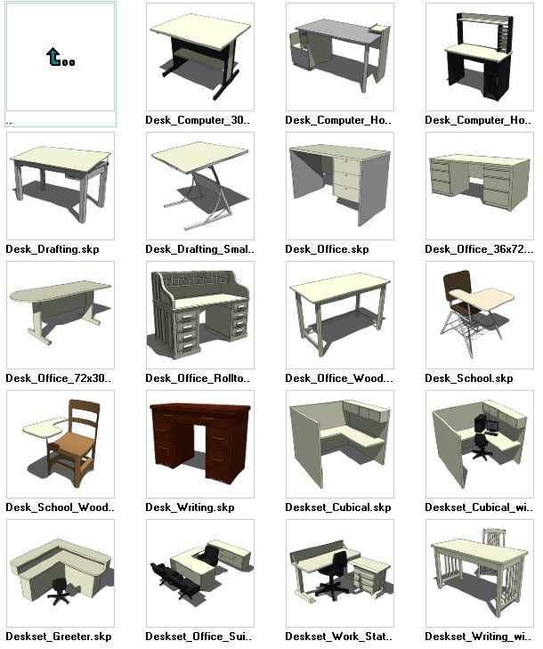 Sketchup Desks 3d Models Download Free Cad Blocks Drawings Download Center