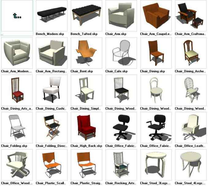 Sketchup Seating 3d Models Download Free Cad Blocks