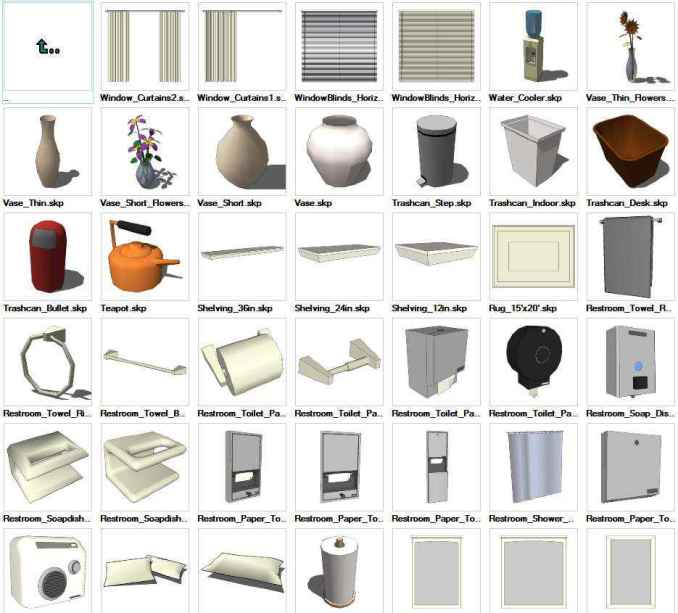 Sketchup Interior Objects 3d Models Download Free Cad