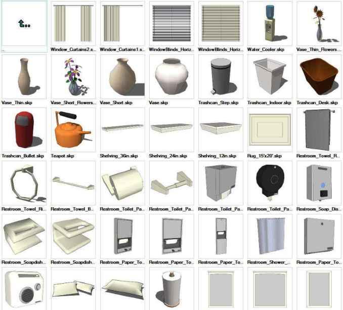 Sketchup interior objects 3d models download free cad for 3d furniture design software free