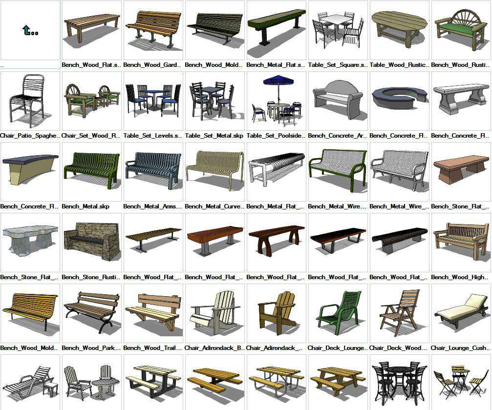 Sketchup Furniture Exterior 3d Models Download Free Autocad Blocks Drawings Download Center