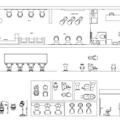 Restaurant Sofa Booth Seating Transforming Hair Salon Blocks & Plans   Free Cad Drawings ...