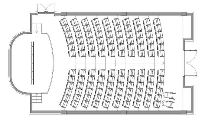 free auditorium plan free cad blocks amp drawings download