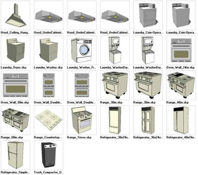 Sketchup Appliances 3d Models Download Free Cad Blocks