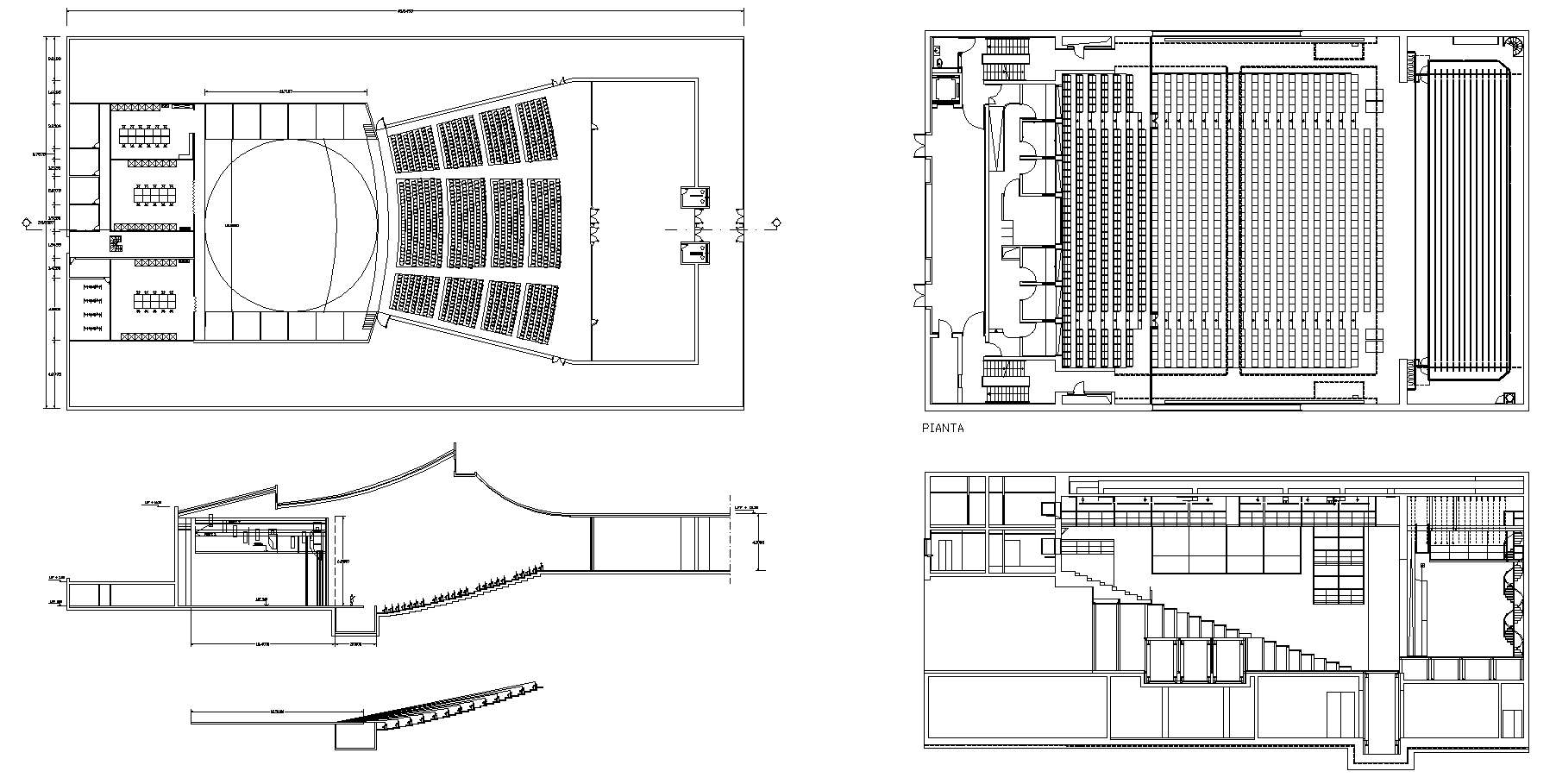 auditorium section   free cad blocks  drawings download center. auditorium section