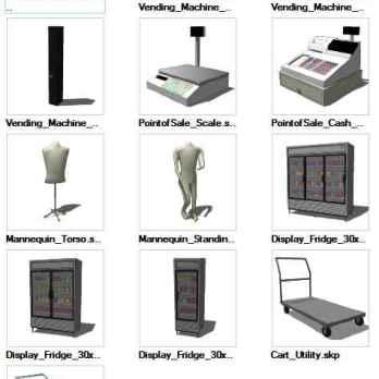 ☆Sketchup 3D models🔥💎 – Free Autocad Blocks & Drawings Download