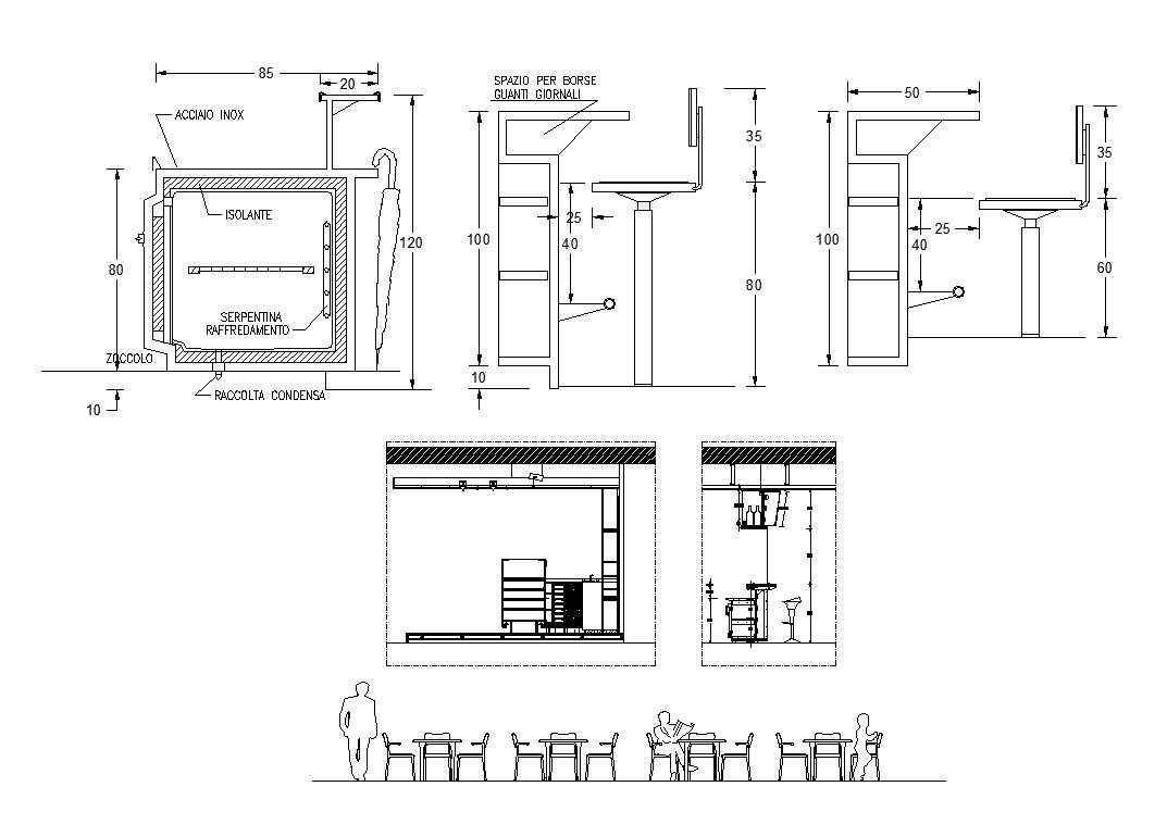 Pub And Bar Design 1 Free Cad Blocks Amp Drawings Download
