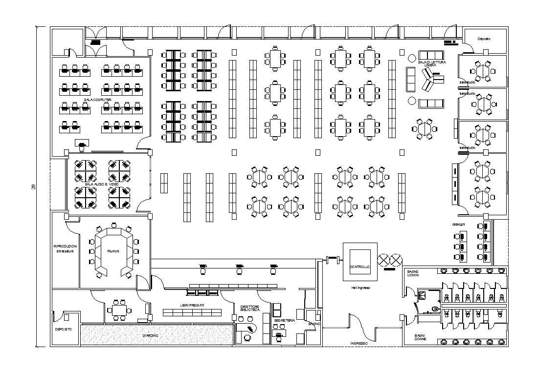 Free Library Plans Free Cad Blocks Drawings Download