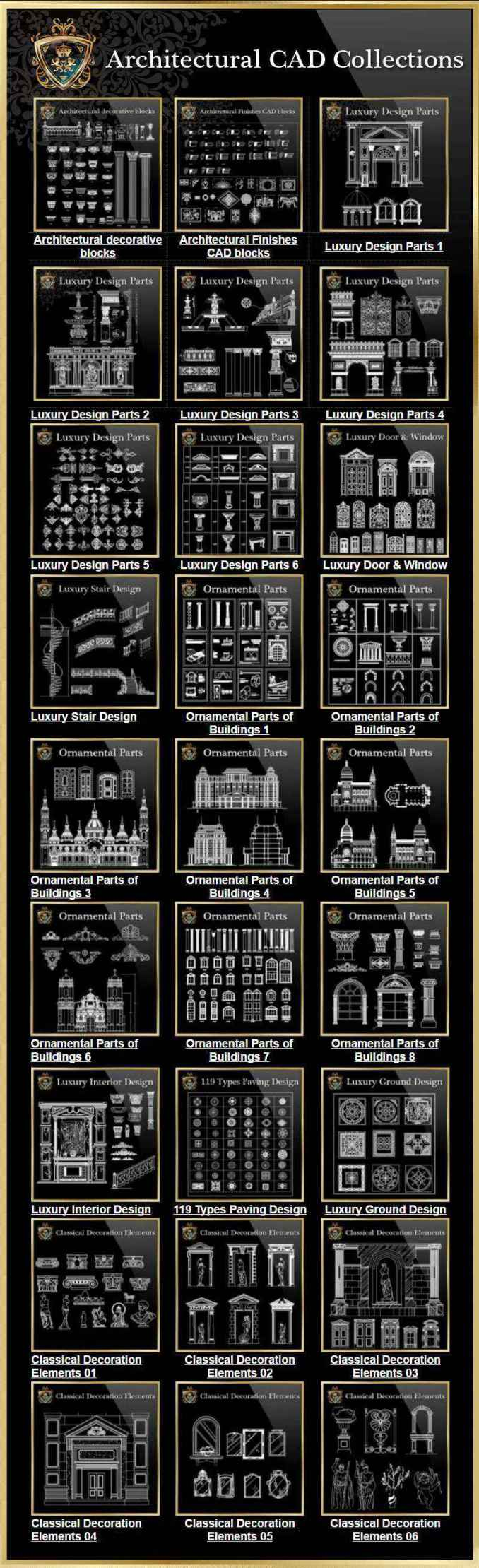 Architectural Cad Drawings Bundle Best Collections