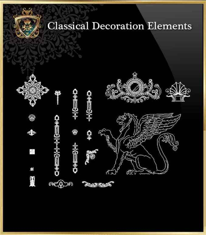 Free Classical Decoration Elements 3 – Free Autocad Blocks