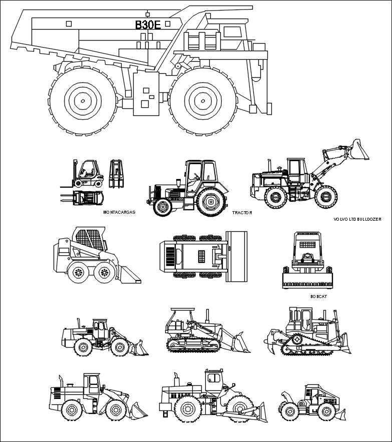 Transportation Blocks-bulldozer