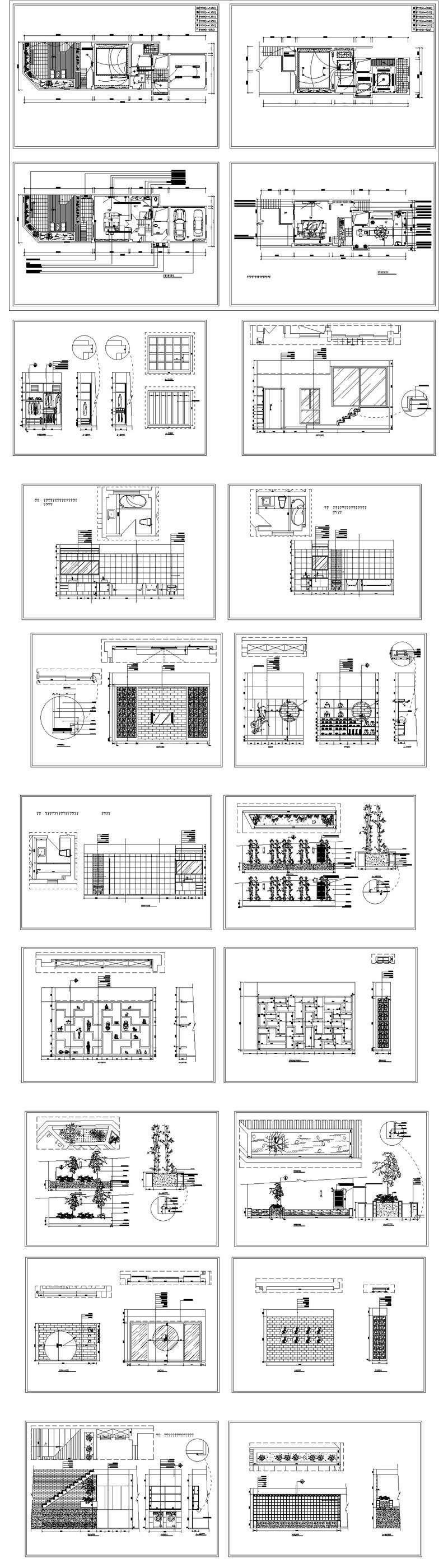 ★【Interior Design CAD Design,Details,Elevation Collection V.2】Residential  Building,Living room,Bedroom,Restroom,Decoration@Autocad  Blocks,Drawings,CAD ...