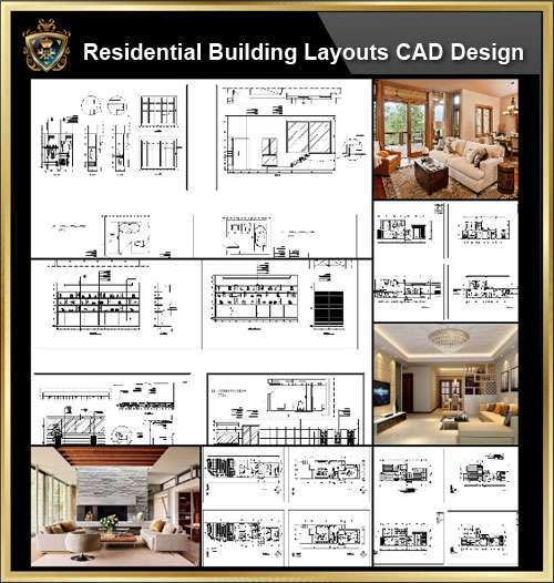 ★【Interior Design CAD Design,Details,Elevation Collection V.2】Residential  Building,Living room,Bedroom,Restroom,Decoration@Autocad  Blocks,Drawings,CAD ...