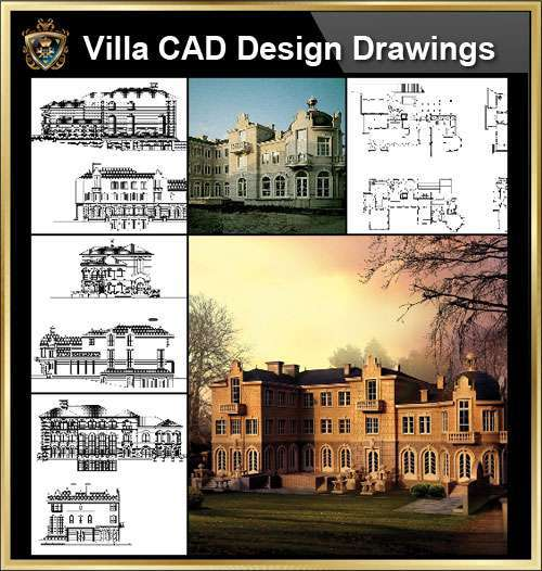 Villa Cad Design Details Project V 8 French Fontainebleau Style