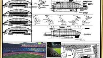 ☆【stadium cad blocks stadium gymnasium track and field