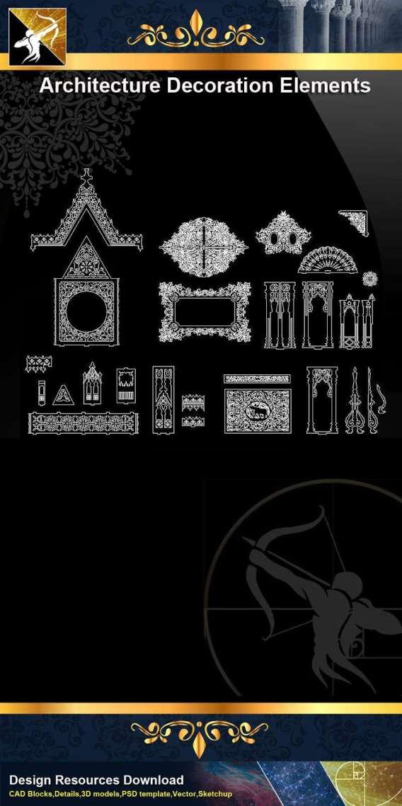 ★【 Free Architecture Decoration Elements V.11】@Autocad Decoration Blocks,Drawings,CAD Details,Elevation
