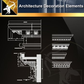 Free Classical Decoration Elements – Free Autocad Blocks