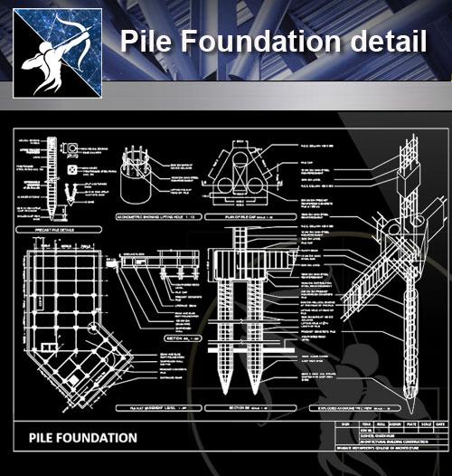 Foundation Details Dwg Free Download