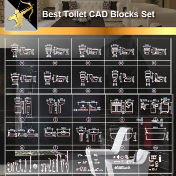 ★【Toilet CAD Blocks】@Autocad Blocks,Drawings,CAD Details,Elevation