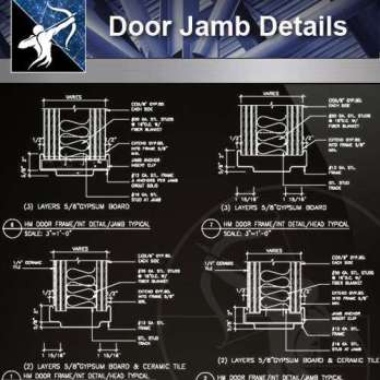 【Architecture CAD Details Collections】Door Jamb CAD Details