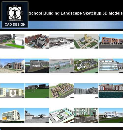 ★【Sketchup 3D Models】20 Types of School Sketchup 3D Models V 8