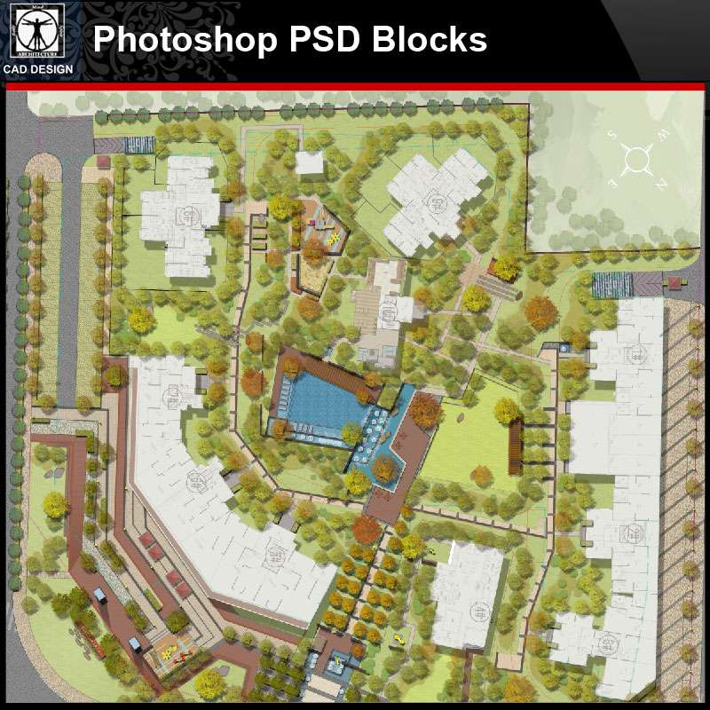 Psd Landscape Design Concept Layout Psd Landscape Blocks V2