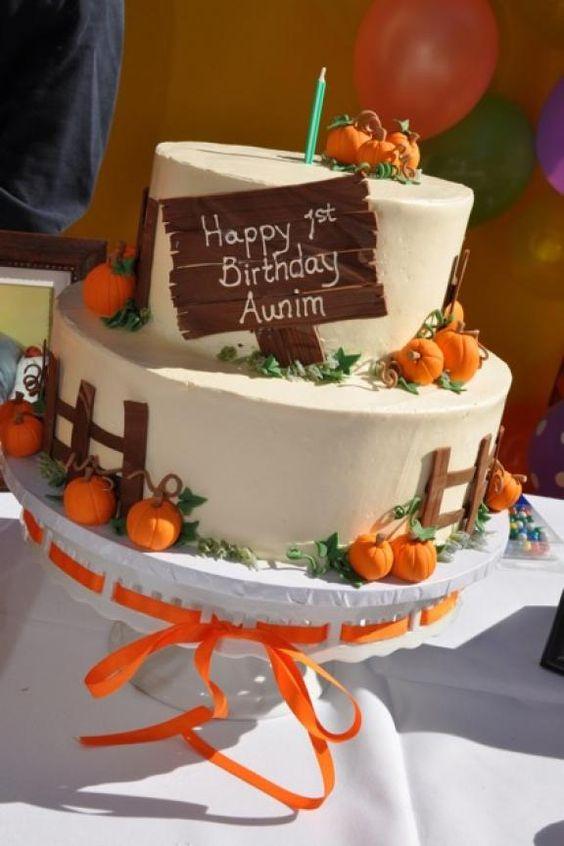 fall birthday cakes