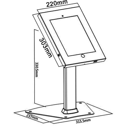 Allcam IPA1204, IPP1204 Steel Security iPad Kiosk Table Stands