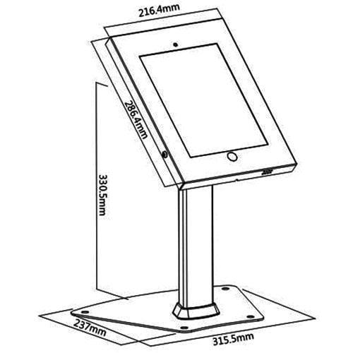 Allcam IPA1204, IPP1204 Steel Security iPad Kiosk Table Stands