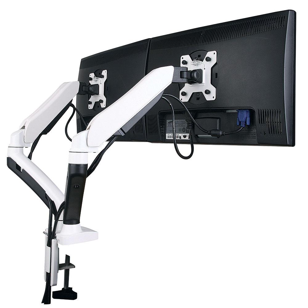 gsa22dd Gas spring twin led/lcd monitor arm