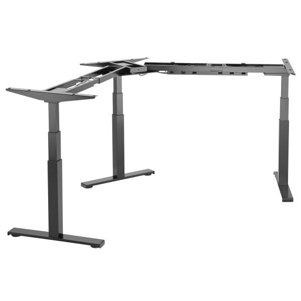 EDF03TB triple motor sit-stand desk frame black