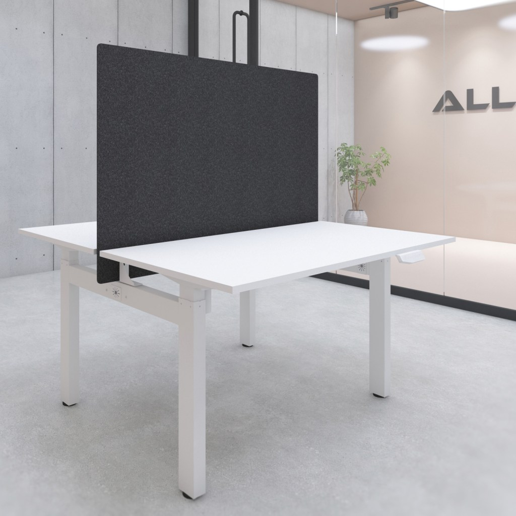 s149b desk privacy screen with mounting kit 1400x900 black